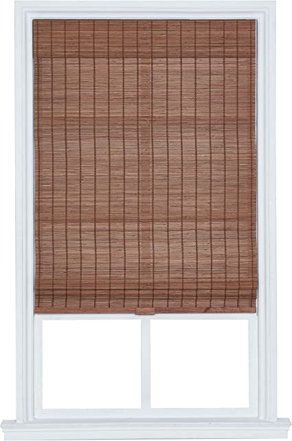 The Shade Shutter Factory Kodiak Cordless Matchstick Bamboo Roman Shades Pecan 31 In W X 64 In L Amazon Co Uk Kitchen Home