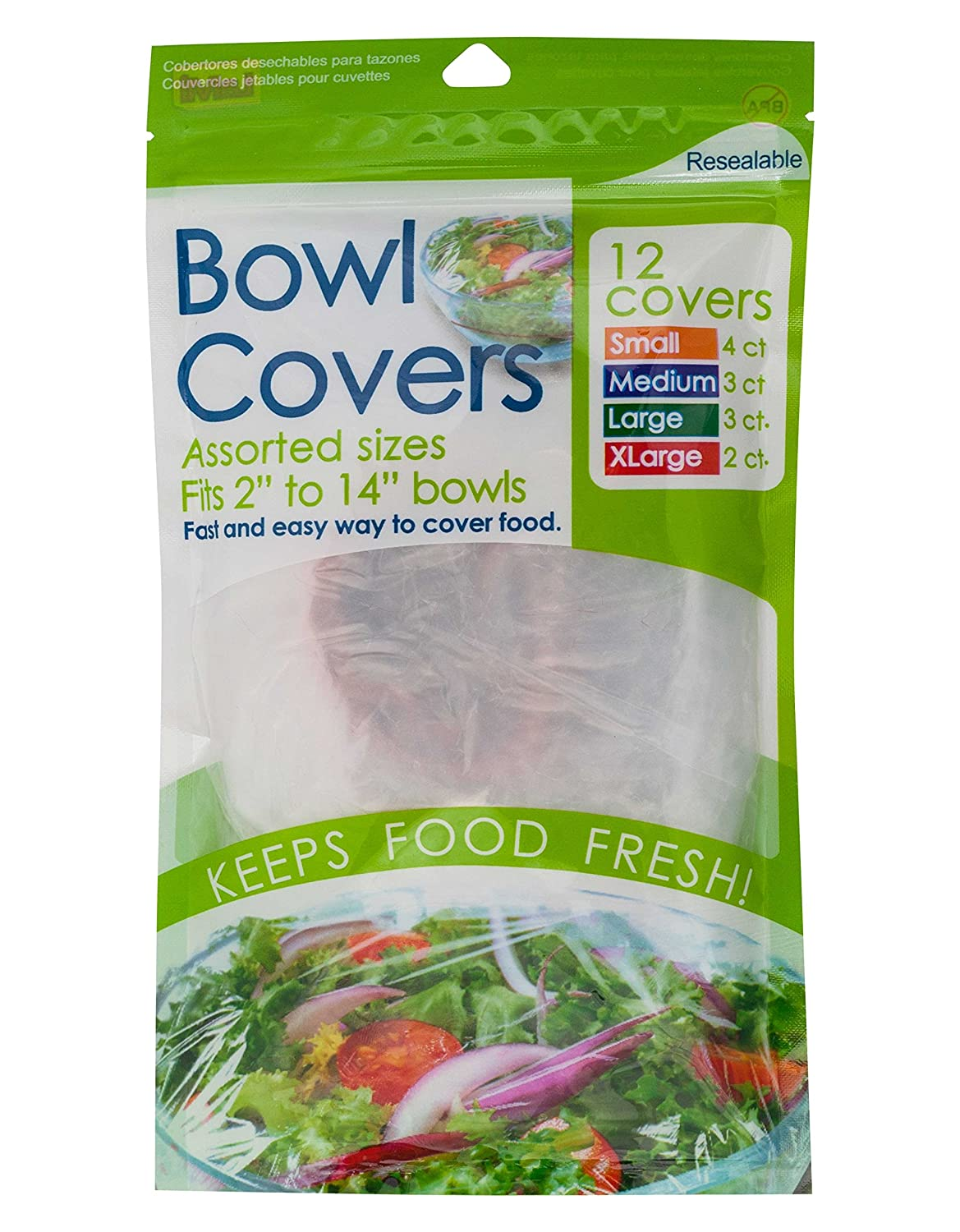 Economy Kitchen Accessory Reusable Bowl Covers 12 Pack