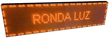 CARTEL LED PROGRAMABLE LETRERO LED PROGRAMABLE (128 * 32 cm, NARANJA ÁMBAR) PANTALLA LED PROGRAMABLE ROTULO LED PROGRAMABLE CARTEL ELECTRÓNICO ANUNCIA ...