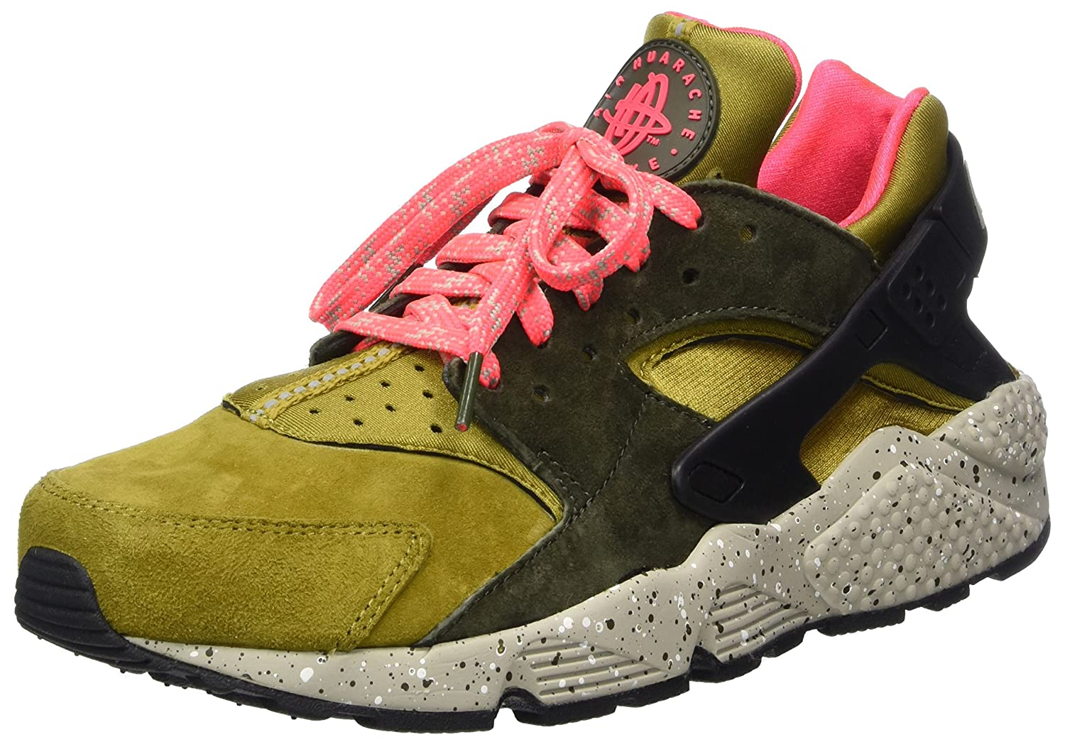 Nike Air Huarache Run Premium Mens Shoes Desert Moss