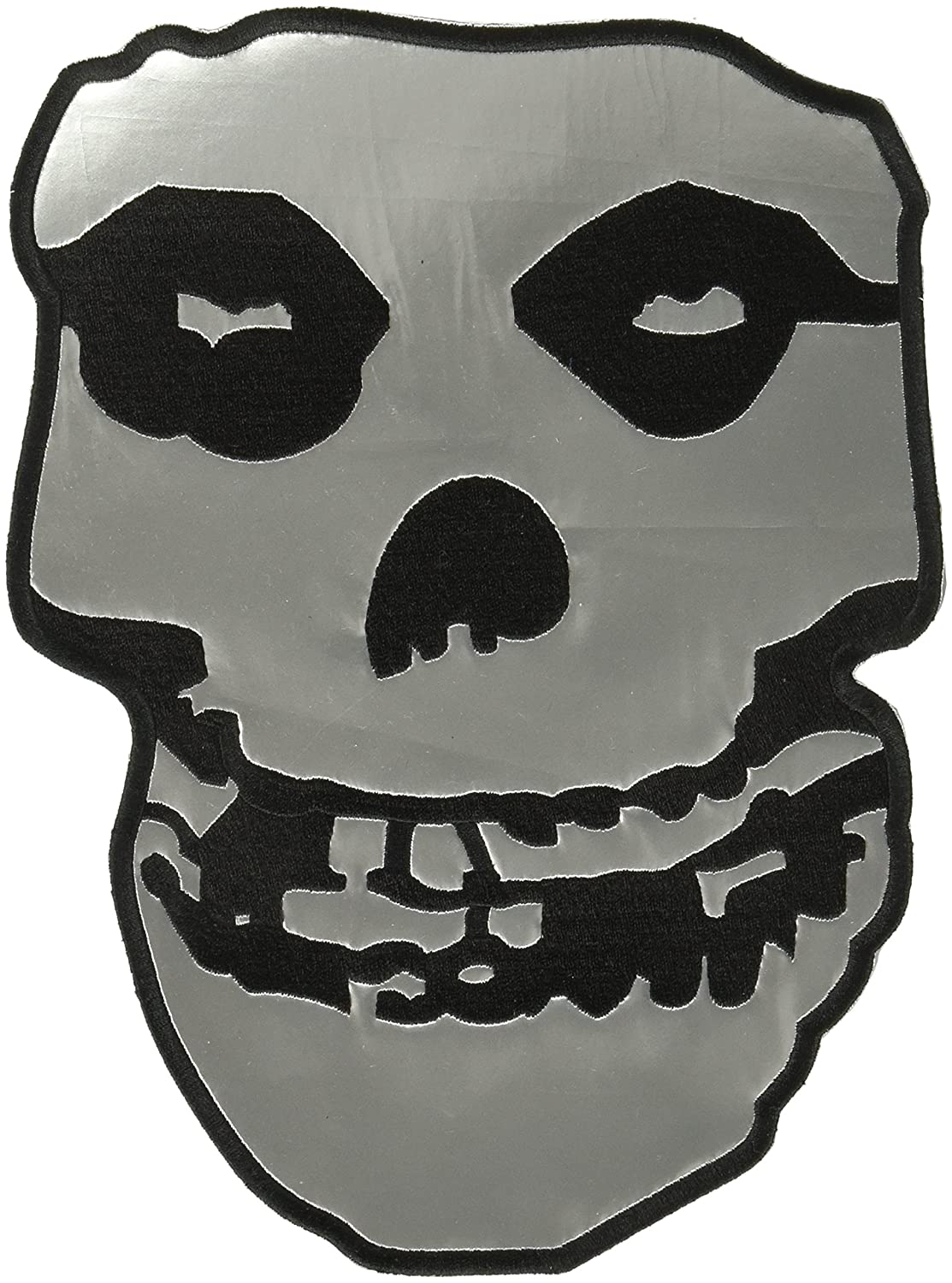 25cm Large Silver Vinyl Back Patch with Embroidered Edges The Misfits
