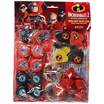 "amscan Disney/Pixar Incredibles 2"" Mega Mix Value Pack, Party Favor: Toys & Games"