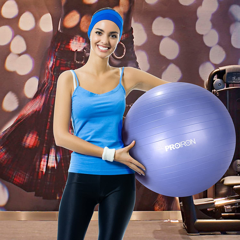 Ballpumpe Anti-Burst Robuster Stabilit/ät Swissball Fitnessball Yogaball PROIRON Gymnastikball Sitzball von 65cm 75cm inkl