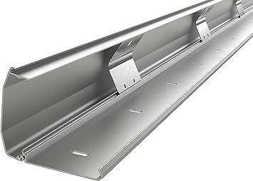 KIMEX 150-3101 Canal pasacables Horizontal para Escritorio Gris Largo 60 cm