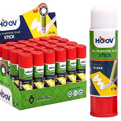 amazon com hoov all purpose cylindrical glue stick pvp 24pcs