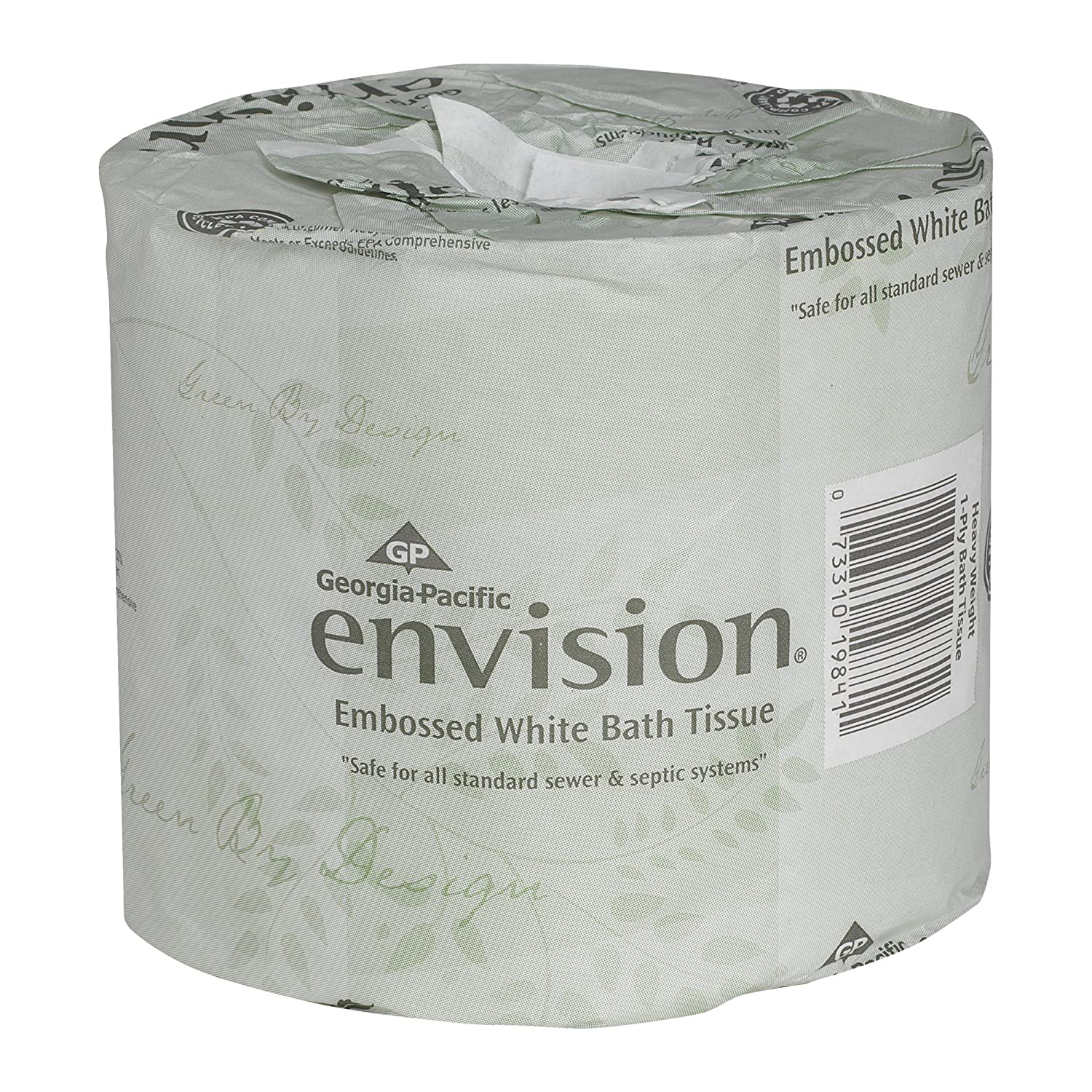 Envision 1-ply embossed toilet paper is one of the most eco friendly toilet papers around