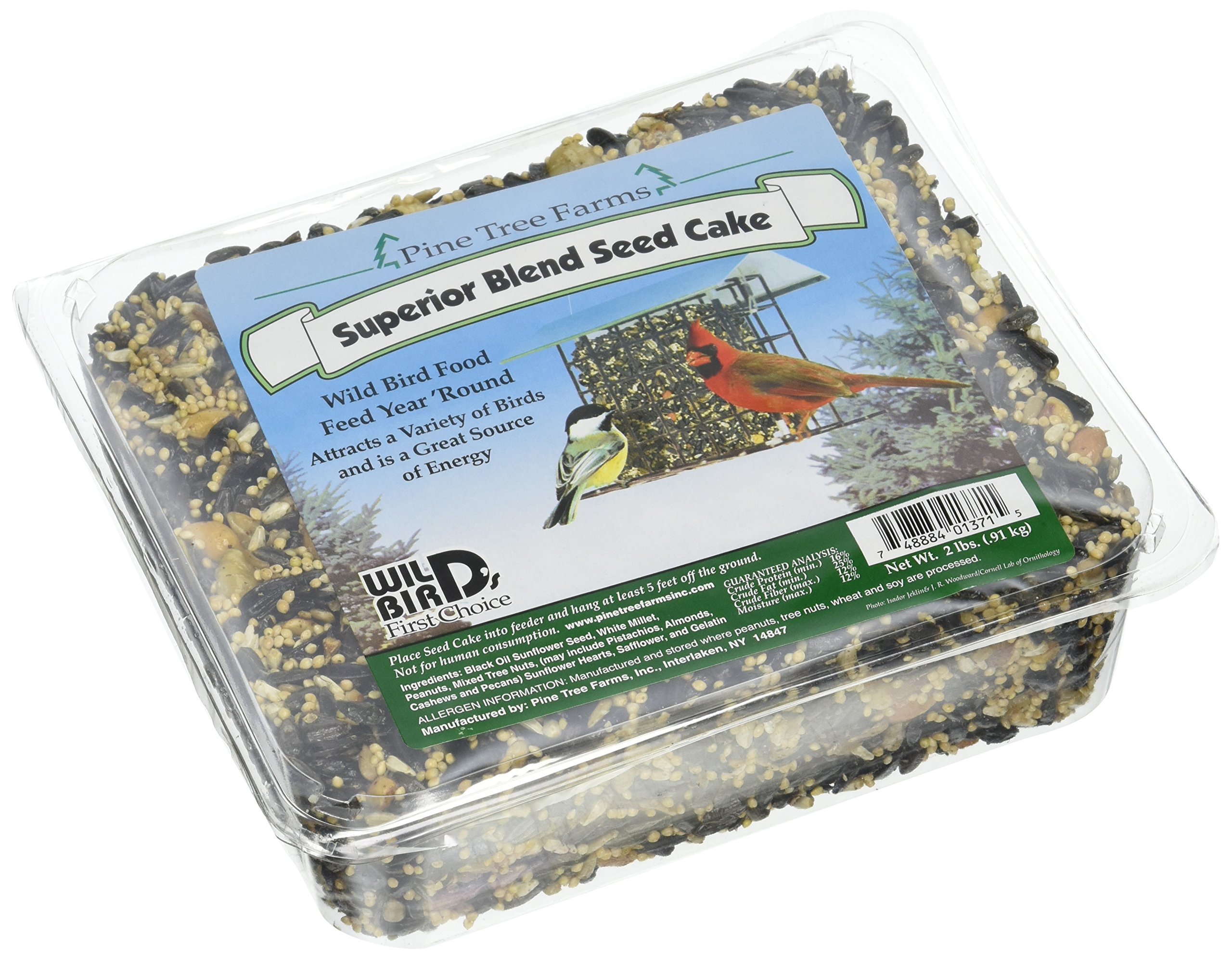 Pine Tree Farms 1371 Superior Blend Seed Cake, 2 Pounds