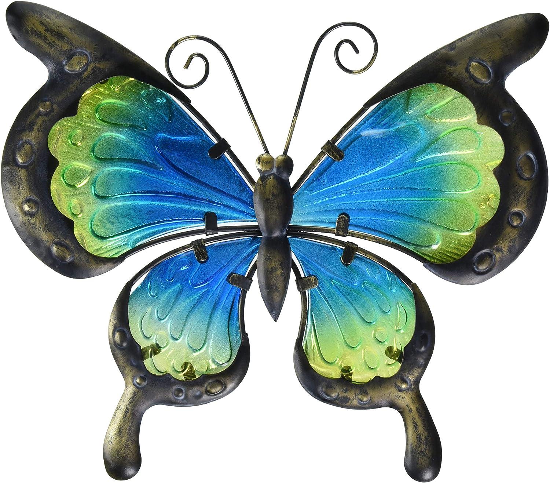 Regal Art & Gift 12353 Vintage Butterfly Decor 11 Wall Décor, Green Blue