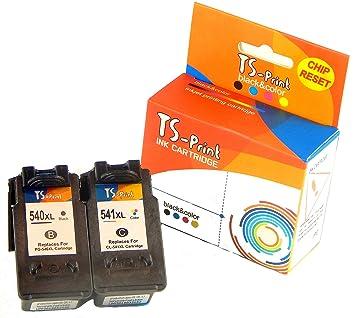 TS-Print Cartuchos de Tinta PG-540XL CL-541XL Canon Impresora ...