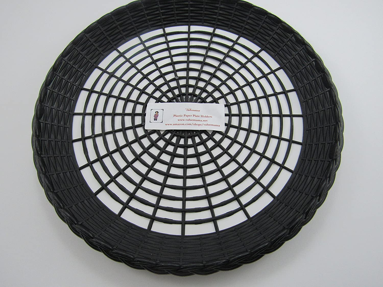Amazon.com Reusable Black Plastic Paper Plate Holder for 9\  Plates Pack of 12 Health \u0026 Personal Care & Amazon.com: Reusable Black Plastic Paper Plate Holder for 9\