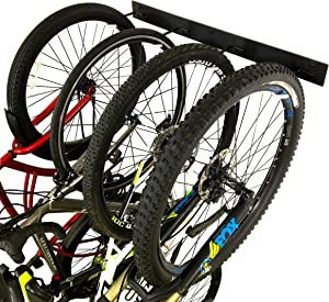 StoreYourBoard BLAT Bike Wall Storage Rack, Holds 4 Bicycles, Heavy-Duty Solid Steel, Max 200 lbs, Garage Organizer Vertical Hanging Hooks