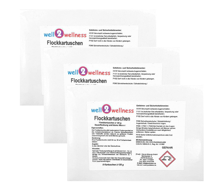 Flocculation Cartridges/Flocculation Cartridges 3.0kg (24x 125g [Pool] + Sauna Bräunig GmbH