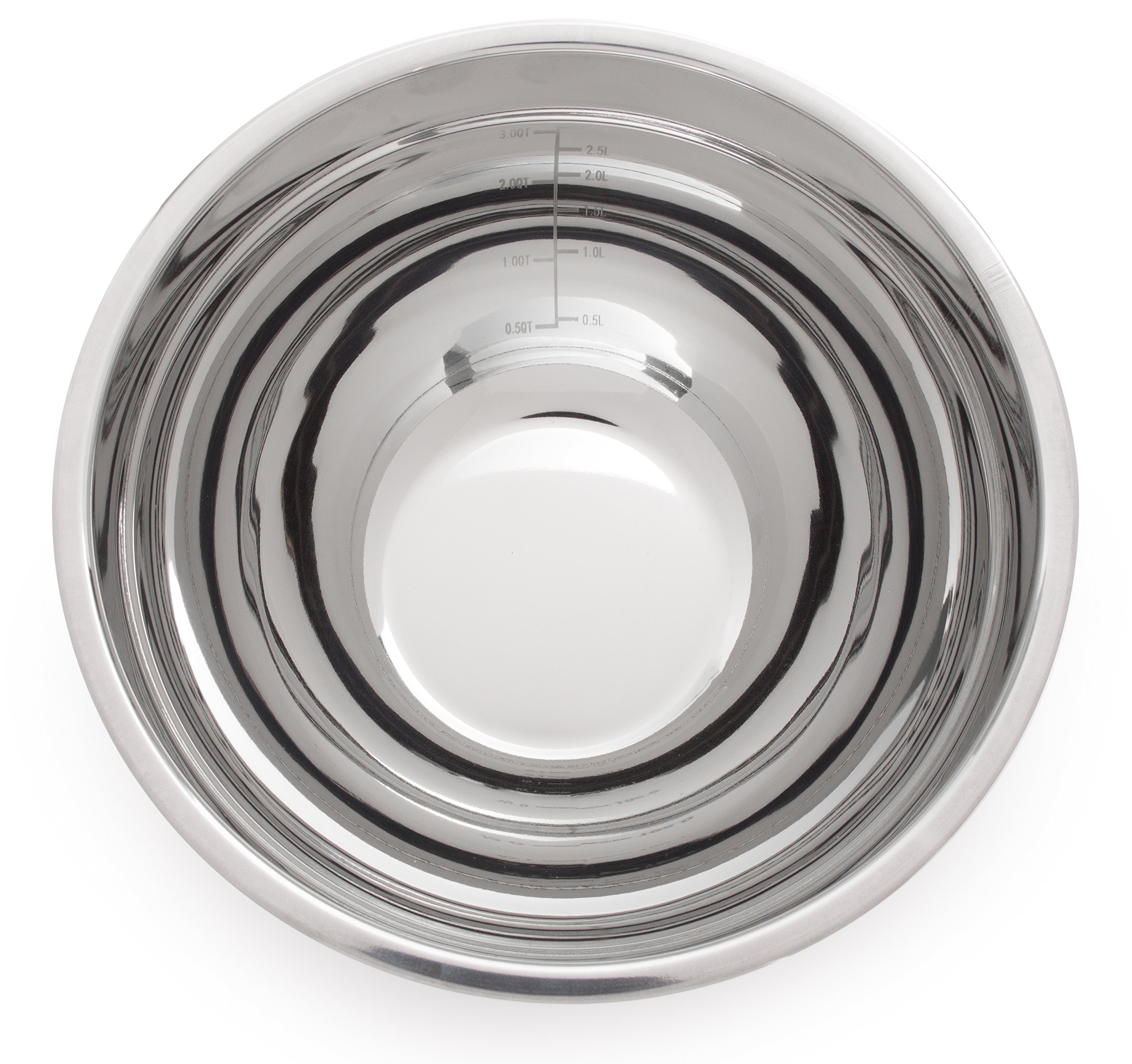 +Steel Stainless Steel Non-Slip Mixing Bowl Set of 4 with Lids and Whisk by +Steel (Image #3)