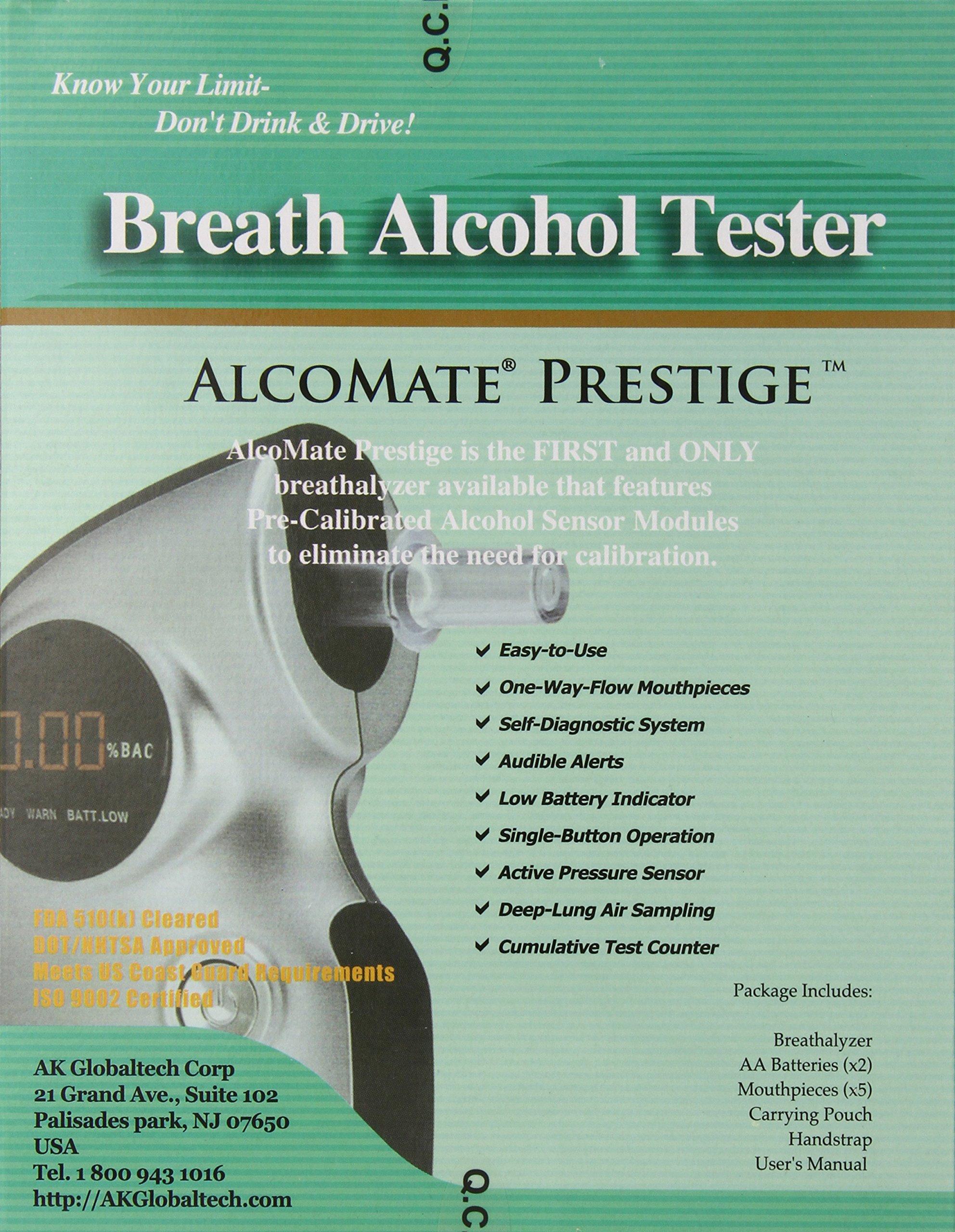 AlcoMate Prestige AL6000 Breathalyzer with PRISM Technology