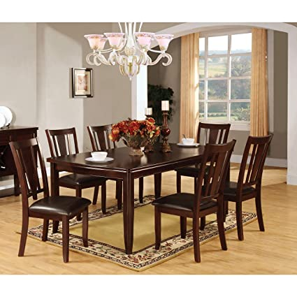 933c61dbbab557 Image Unavailable. Image not available for. Color: Furniture of America  Corithea Contemporary Espresso Dining Table ...
