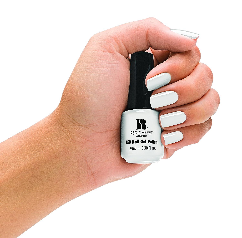 Amazon.com : Red Carpet Manicure Gel Polish, White Hot, 0.3 Fluid ...