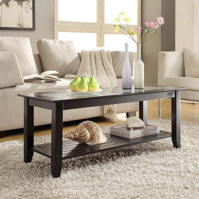 Amazon Convenience Concepts Carmel Coffee Table Black