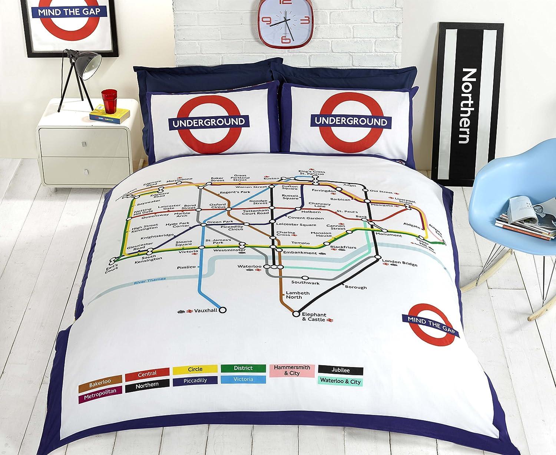 London Underground Double Duvet Set