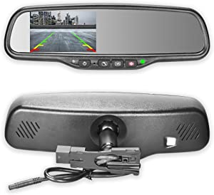 """Master Tailgaters OEM Rear View Mirror with 4.3"""" Auto Adjusting Ultra Bright LCD and OnStar Buttons(for Backup Cameras) - Connects to Your Existing OnStar Wiring"""