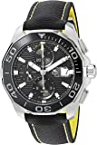 TAG Heuer Men's 'Aquaracr' Swiss Automatic Stainless Steel and Canvas Sport Watch, Color:Black (Model: CAY211A.FC6361)
