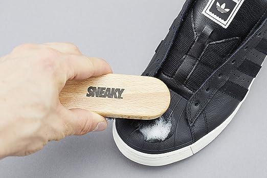 Kit de limpieza de Sneaky: limpiador, cepillo y paño de microfibra en un kit portátil para limpiar zapatos y zapatillas, 150 ml: Amazon.es: Deportes y aire ...