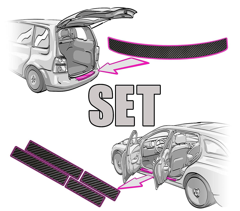 ANLEITUNG in 3D CARBON SCHWARZ Folie RAKEL Ladekantenschutz passende Schutzfolie von CCW/© Einstiegsleisten SET