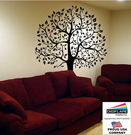 Large 6ft Tree Wall Decal   Digiflare Graphics