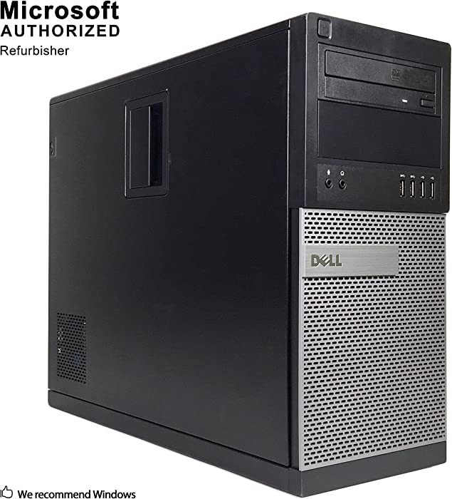 Dell Optiplex 9010 Tower Desktop PC, Intel Quad Core i5 (3.40GHz) Processor, 16GB RAM, 512GB SSD, Windows 10 Pro, DVD, HDMI, Bluetooth, Keyboard, Mouse, WiFi (Renewed)