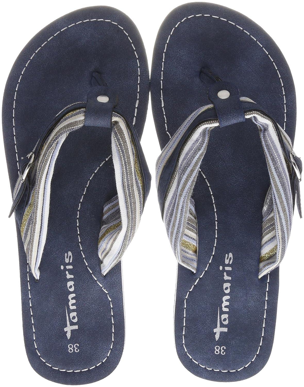 Tamaris Damen 27109 Pantoletten  42 EU|Blau (Blue Comb)