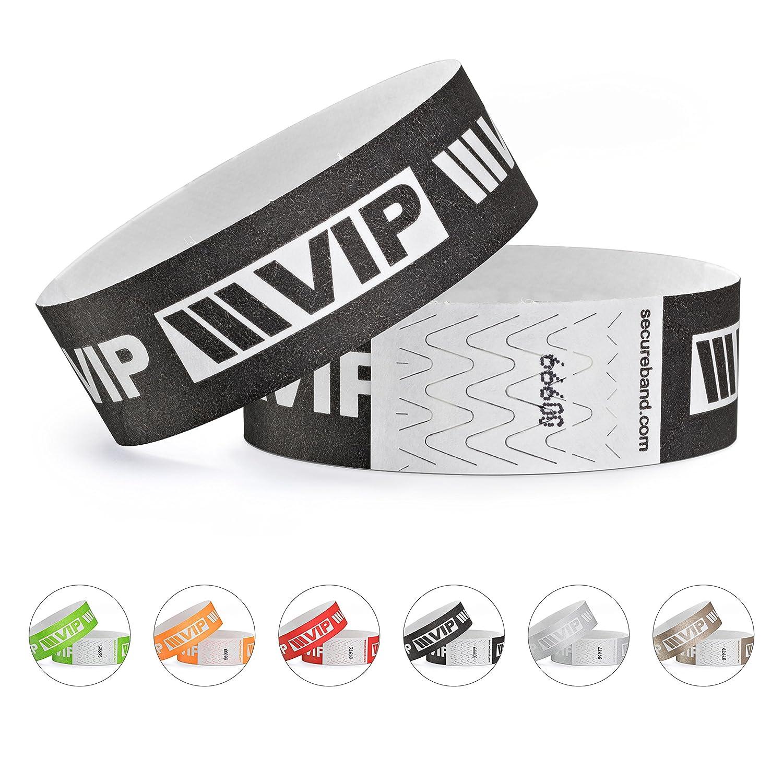 linie zwo®, Confezione da 100 braccialetti di identificazione Tyvek® 19 mm - VIP New Design, Nero