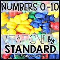 Numbers 0-10 Math Stations Kindergarten