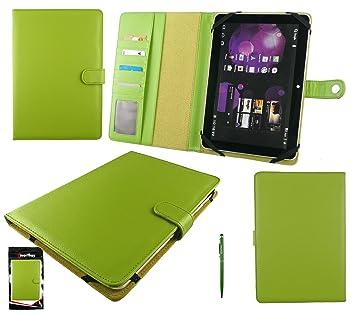 Emartbuy® Stylus Verde Dual Función + Universal Verde Básico Wallet Case Carcasa Funda Con Las Ranuras Para Tarjeta Conveniente Para BQ Edison 2 10.1 ...