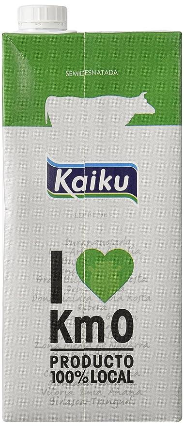 Kaiku Leche UHT Semidesnatada - Paquete de 6 x 1000 ml - Total 6000 ...