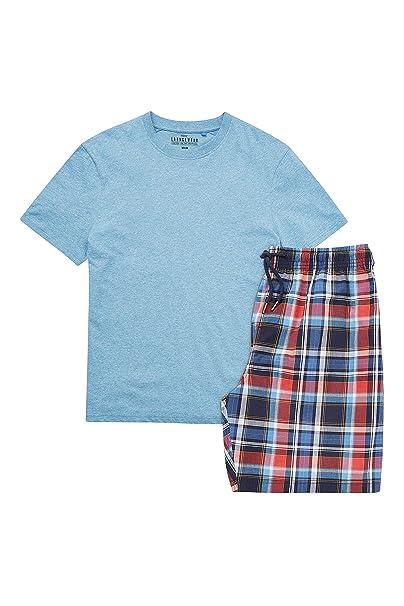 next Hombre Conjunto De Pijama con Pantalones Cortos De Lana con Cuadros De Marga