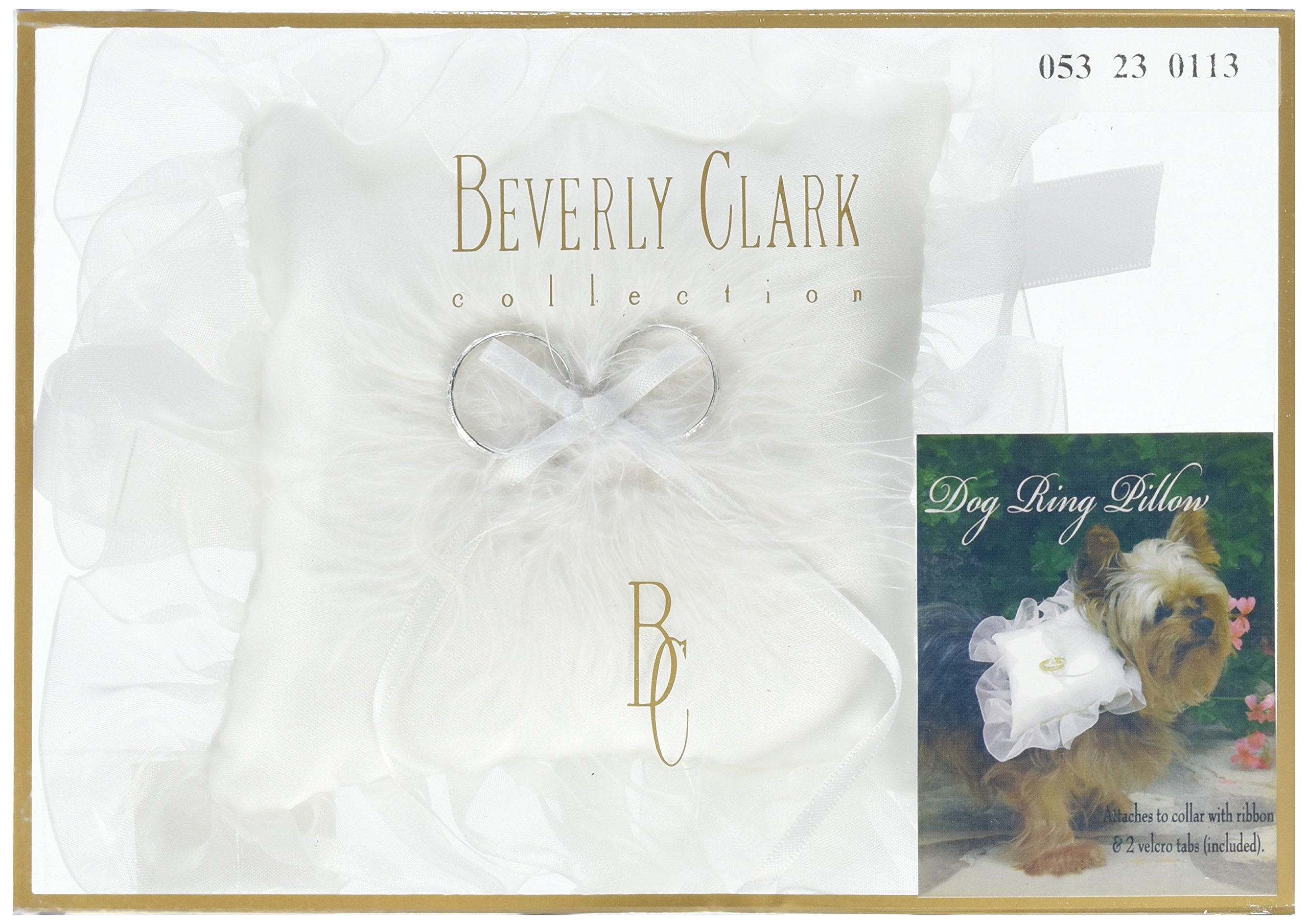 Ivy Lane Design Dog Ring Pillow, White, Small by Ivy Lane Designs