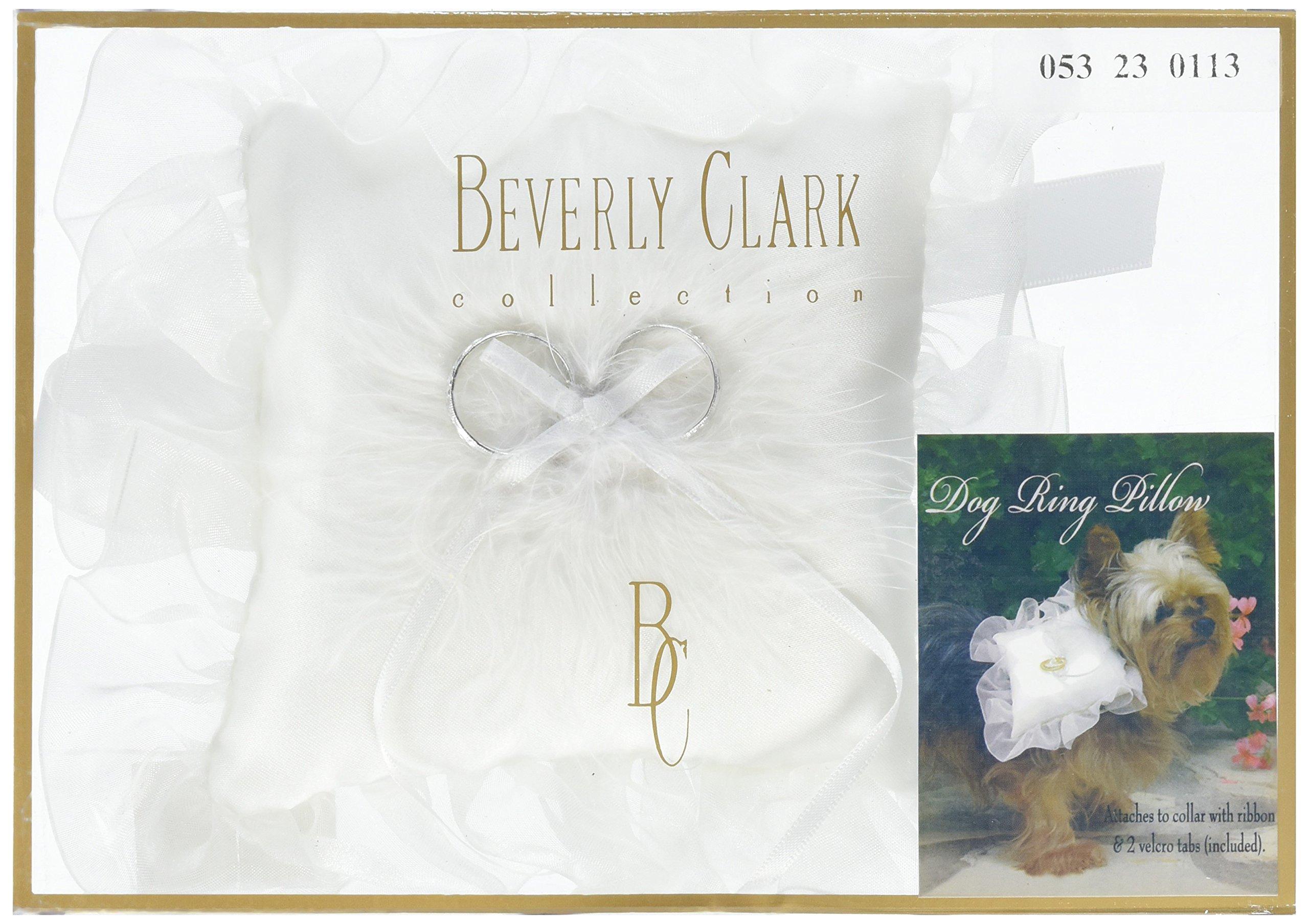 Ivy Lane Design Dog Ring Pillow, White, Small