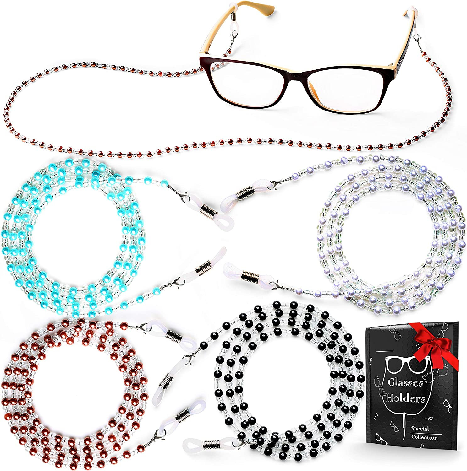 30 Pcs Black Glasses Cord Glasses Chain Neck Strap Cord Glasses Holder One Color