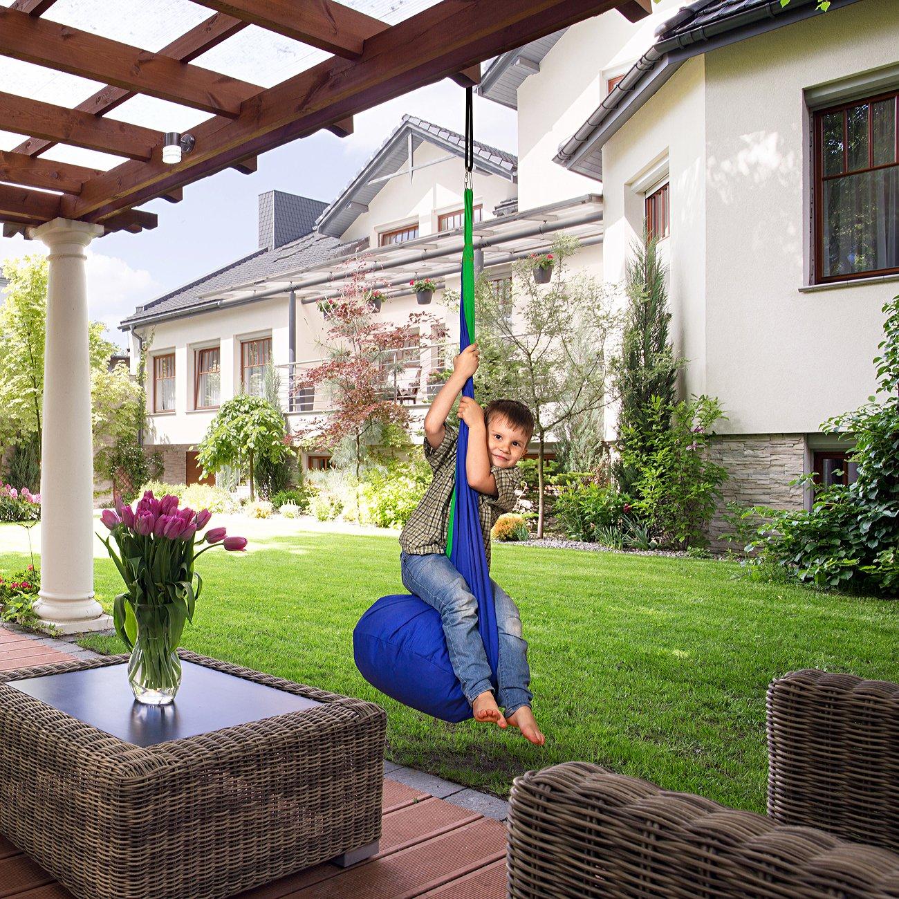 amazon com amazeyou kids swing hammock pod chair child u0027s