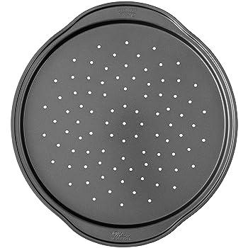 Wilton 14-Inch Non Stick Crisper Silver Pizza Pan