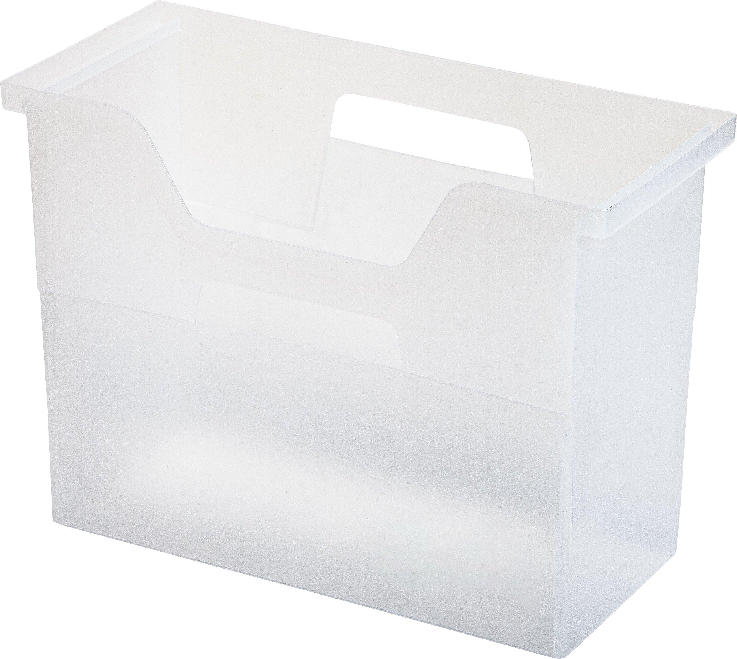 IRIS Desktop File Box, 6 Pack, Medium, Clear by IRIS USA, Inc.