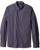 Kenneth Cole New York Men's Long Sleeve Checked Button Down Collar Shirt