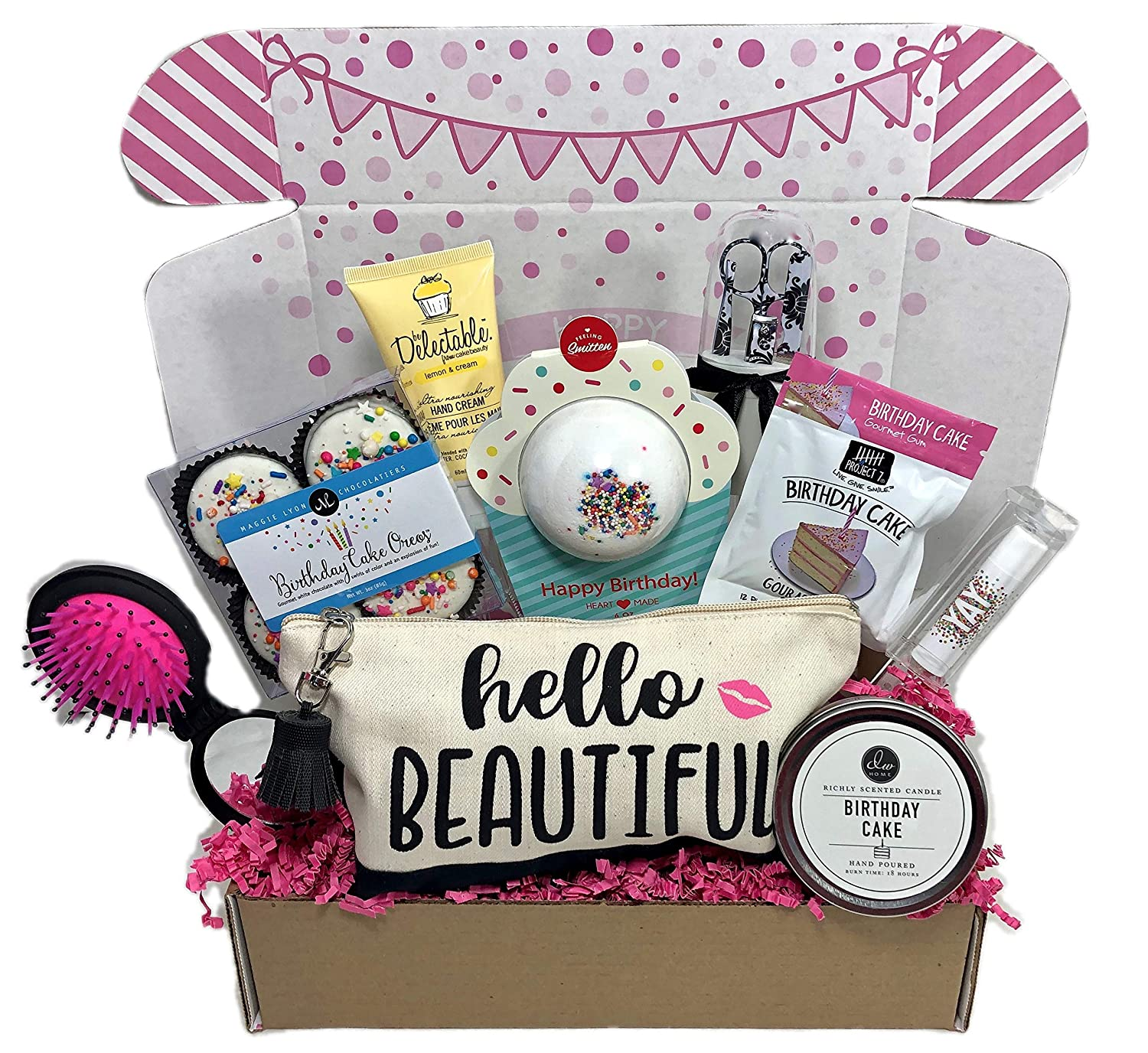 Amazon Complete Birthday Gift Basket Box For Her Women Mom Aunt Sister Or Friend Unique Grocery Gourmet Food