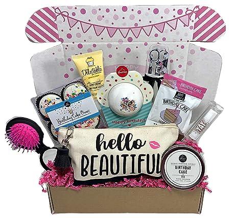 Personalised LADIES BIRTHDAY MINI PAMPER HAMPER GIFT BOX MUM SISTER AUNTIE