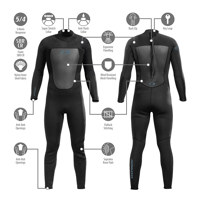 Osprey Mens 5/4mm Winter Wetsuit - Origin Black: Amazon.es: Deportes y aire libre