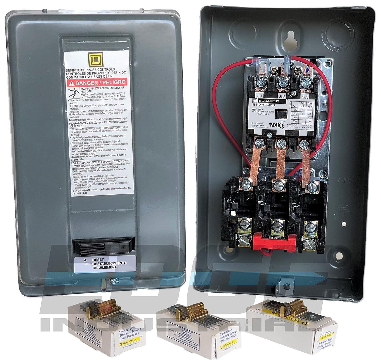 25 amp Motor Starter 7.5hp 3ph 230V definite purpose magnetic motor starter from Square D 8911dpsg23v09