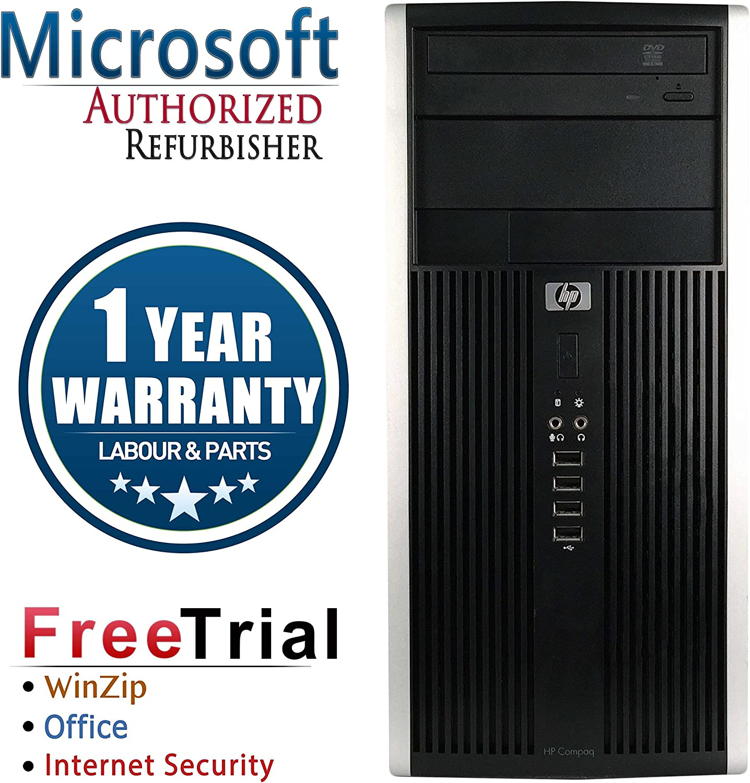 HP 6000 PRO Business High Performance Tower Desktop Computer PC (Intel C2D E8400 3.0G,8G RAM DDR3,1TB HDD,DVD-ROM,Windows 10 Professional)(Renewed)