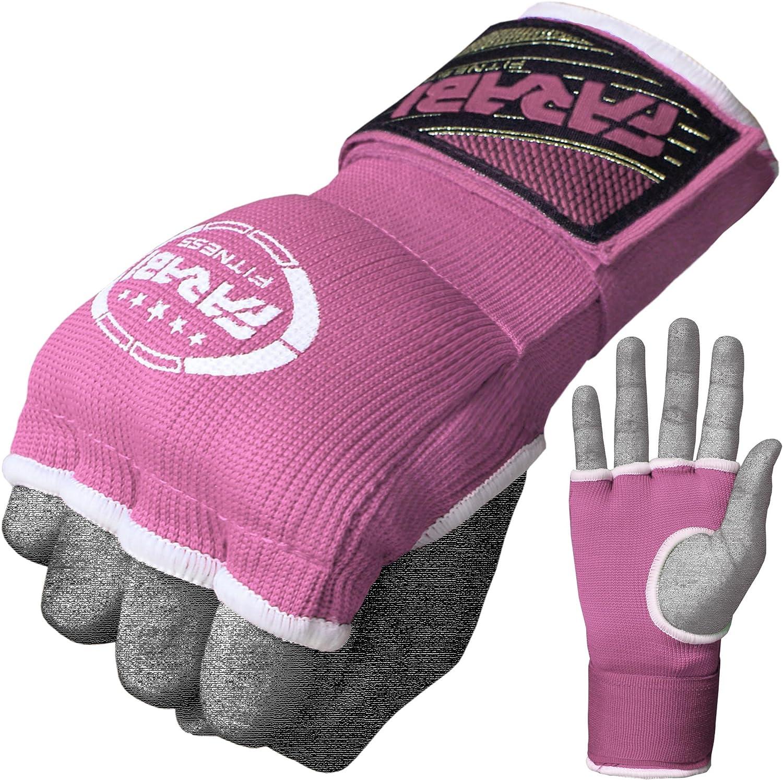 Farabi Kids Hybrid Boxing Inner Gloves Punching Boxing MMA Muay Thai Gym Workout hand wraps Gel inner gloves fingerless gloves bandages mitts hand protector.