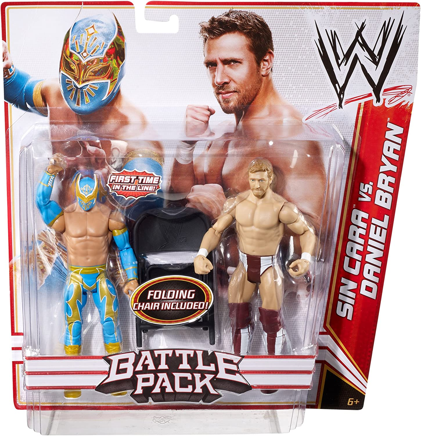 Sin Cara and Daniel Bryan - Battle Pack Best of 2012 - WWE Action Figure by Mattel: Amazon.es: Juguetes y juegos