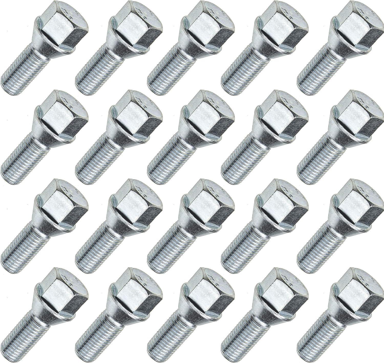 8 Radschrauben Radbolzen M12 x 1.25 x 40 Kegel Kegelbund FIAT