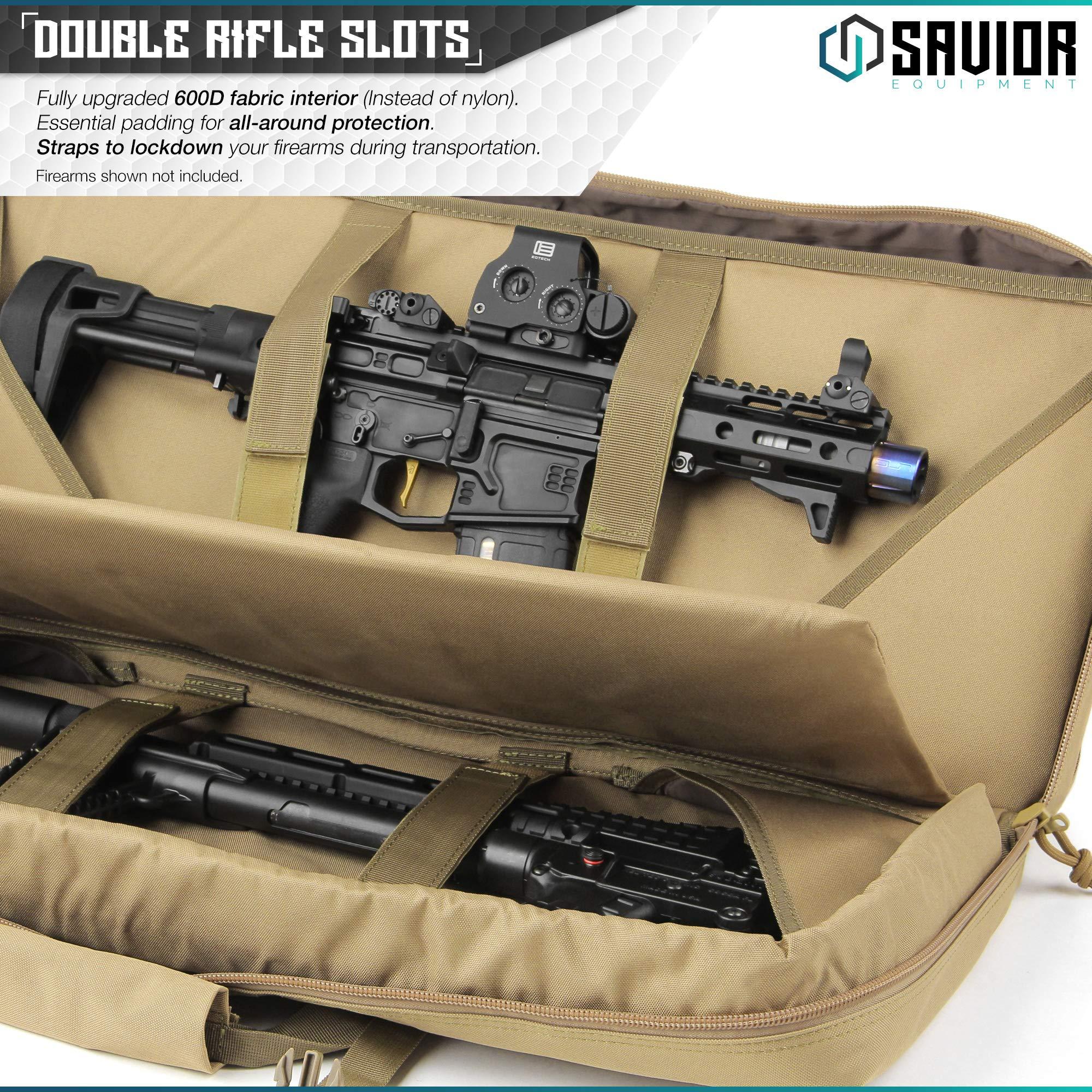 Savior Equipment American Classic Tactical Double Short Barrel Rifle Gun Case Firearm Bag - Suitable for Subgun Bullpups Carbine Shotgun SMG SBR AR AK Pistol, Available Length in 24'' 28'' 32'' by Savior Equipment (Image #2)